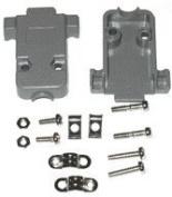 Pc Accessories - Grey Plastic Hood For DB-9/HD-15 Connectors Short Screws, 10 Pack