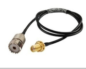 RF coaxial pigtail cable SMA female to UHF SO239 PL259 female RG58 3m