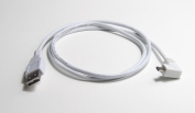 0.9m Micro USB 90 Degree Right Angle Data Sync Charger Cable for Tablets, Phones - White