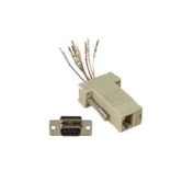 InstallerParts DB9 Female to RJ45 Modular Adapter Ivory