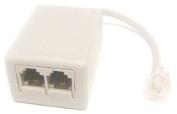 Micro Connectors, Inc. 2 Ports DSL/ Fax/ Internet Passive LC filter Conditioner/ Splitter