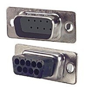 Pc Accessories-DB9 Male D-Sub Crimp Type Connector, 50-PACK
