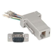 InstallerParts DB9-Male to RJ11/12 (6 wire) Modular Adapter Ivory