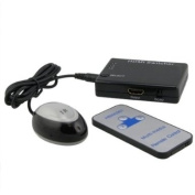 HDMI 3x1 3 Port Switch/Switcher with IR Remote Support 3D