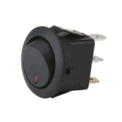 Instal Bay Round Rocker Switch with Red Led No Leads 5 Bag- IBRRSR