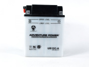 UPG Flooded Cell Motorcycle Battery - 12V, 6.5 Amps, Model# UB12CA