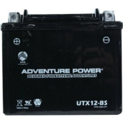 UPG Dry Charge Motorcycle Battery - 12V, 10 Amps, Model# UTX12BX