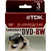 TDK 2X DVD-RW 8CM 1.4 GB DVD-RW 3 Pack in Jewel Case