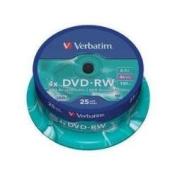 Verbatim DVD-RW, 4.7Gb, 4x, Spindle 25, No 43639, blank dvd, 4.7 gb, rewritable