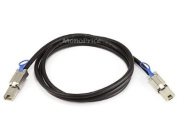 Monoprice 2m 28AWG External Mini SAS 26-Pin SFF-8088 Male to Mini SAS 26-Pin SFF-8088 Male Cable, Black