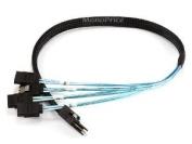 0.5m 30AWG Internal Mini SAS 36pin (SFF-8087) Male w/ Latch to SATA 7pin Fema...