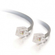 C2G / Cables to Go 09593 RJ11 6P4C Straight Modular Cable, Silver