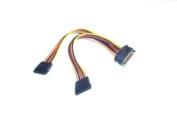 Micro SATA Cables - SATA 15 pin Y splitter 5 wire Power Cable