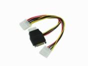 SATA 15pin Male to Three 4pin Molex Female Cable