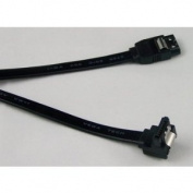 46cm SATA III (SATA 3) 6Gbps Cable, Black, Straight to Right 90 Degree Angle Connectors