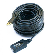Plugable 10 Metre (32 Foot) USB 2.0 Active Extension Cable Type A Male to A Female