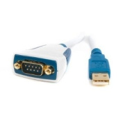 Premium USB to RS232, 1 Mbps, Converter Cable, 10cm Length with LEDs