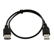 1m USB 2.0 Extension Cable Line A Male Female Clear Translucent