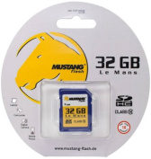 Mustang 32 GB Class 10 High Speed SDHC Flash Memory Card - Retail Packaging