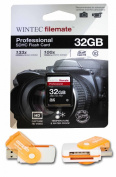 32GB Class 10 SDHC High Speed Memory Card For SONY HANDYCAM DCR-SX44 HDR CX110. Perfect for high-speed continuous shooting and filming in HD. Comes with Hot Deals 4 Less All In One Swivel USB card reader and Lifetime Warranty.