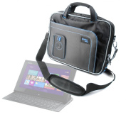 Black Rugged Laptop & Accessory Bag With Shoulder Strap For Sony Vaio Duo 11, Vaio Y Series & Vaio VPC-Z21, By DURAGADGET