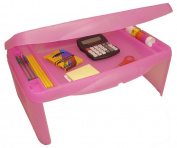 Storage Folding Lap Desk (Frosted Pink)