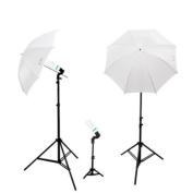LimoStudio 6500K Daylight 600W Photography 80cm Umbrella Reflector Studio Lighting Kit, AGG286