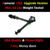 Heavy Duty PRO LED Video Light 28cm FMA-1 Magic Arm, with Variable Friction Adjustable Arm and Hot-Shoe Mount by Kamerar