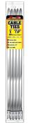 Pro Tie SS8N5 20cm Narrow Stainless Steel Cable Ties, 5-Pack