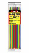 Pro Tie AC11SD100 30cm Assorted Colour Standard Duty Colour Cable Tie, Assorted Nylon, 100-Pack
