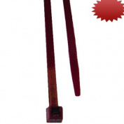 L.H. Dottie DTP6 Cable Tie, Air Handling, 19cm Length by 0.5cm Width by 0.1cm Thickness, Burgundy, 100-Pack