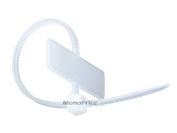 Marker Cable Tie 10cm 8.2kg, 100pcs/Pack - White [Electronics]