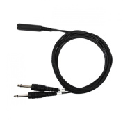 Audio2000's Adc2107a-p 1.8m 0.6cm Ts Mono Female to Two 0.6cm Ts Mono Male Cable