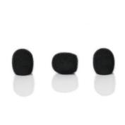 YPA MMW2 BLACK Foam Windshields 11MM FOR Headset Lapel Microphones
