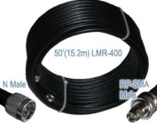 Times Microwave LMR-400 Ultra Low Loss 15m Antenna Cable. N Male & RP-SMA Male (Plug - No Pin) connectors. Connects an external antenna to WiFi , Router, Radio or Antenna