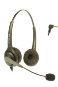 Dual Ear 2.5mm Call Centre Headset for AT & T, Cisco SPA Series, Cortelco, Grandstream, Polycom SoundPoint IP 321/331 and Pro SE-220/225, RCA