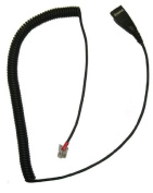 RJ9 (RJ22) Quick Disconnect Cord for use OvisLink Headsets with Avaya (9xxx series), Grandstream and Snom Phones