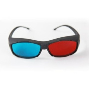 TOOGOO 3D Vision Ultimate Anaglyph 3D Glasses - Made To Fit Over Prescription Glasses