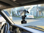 Vehicle Car Suv Rear Mirror Mount Holder w/ 1/4-20 Stud for Cameras & Camcorders