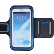 New Fashion Blue/Black Outdoors Sport running Gym Armband Case For for for for for for for for for for for Samsung Galaxy Note 2 II N7100/for for for for for for for for for for Samsung Galaxy Note GT-N7000 i9220/for f