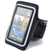 Black Running Sport Outdoors Armband Case for HTC ONE M7 / for Samsung Galaxy S4 I9500 / for Samsung Galaxy S3 I9300