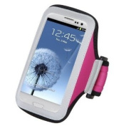 Premium Sport Armband Case for Apple iPod touch (5th generation) - Hot Pink + Stylus Pen