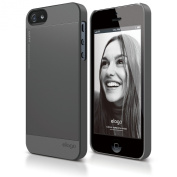 elago S5 Outfit Aluminium and Polycarbonate Dual Case for the iPhone 5S/5 - eco friendly Retail Packaging - Dark Grey