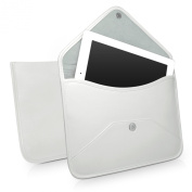 BoxWave Elite Leather iPad 3 Messenger Pouch - Slim-Fit with Unique Envelope Sleeve Design - iPad 3 Cases and Covers -Ivory White