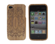 Vongola Retro Real Natural Bamboo Wood Wooden Hard Case Cover for iPhone 4 4G 4S