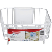 Rubbermaid Home 6008-AR-WHT Twin Sink Dish Drainer-WHITE TWIN DISH DRAINER