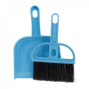 Gino PC Computer Keyboards Window Blue Plastic Cleaning Brush Dustpan Set