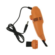 Mini USB Vacuum Keyboard Cleaner Brush For PC Laptop Computer Air Fans Monitor Orange