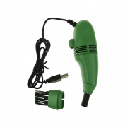 Mini USB Vacuum Keyboard Cleaner Brush For PC Laptop Computer Air Fans Monitor Green