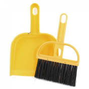 Gino PC Keyboards Window Yellow Plastic Cleaning Dust Dirt Brush Dustpan Set